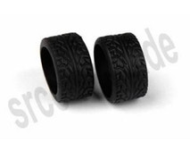 ATM / H 08Deg / Radial Groove Tire - Wide (for RCP Track) / Hinterradreifen 001