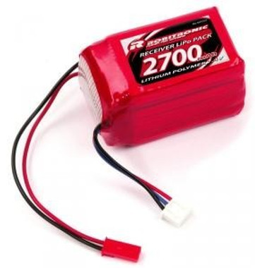 *LIPO 2S / 7,4V / 2700mAh / 2/3A Hump Size, Empfängerpack (EH)