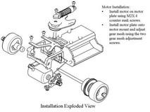PN Alu-Motorhalter / V4 / 98-102mm LCG MM / silber - MR2289S