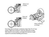 MR2289S / PN Alu-Motorhalter / V4 / 98-102mm LCG MM / silber - MR2289S