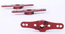 R17019R / Aluminium Servo Doppel Arm 25Z (1-Ebene) Rot 002