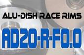 AD20-R-F0.0 - FRONT - ALUMINIUM-DISH RACE RIM in 20mm