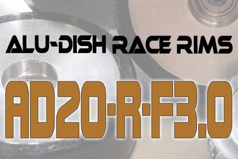 AD20-R-F3.0 / AD20-R-F3.0 - FRONT - ALUMINIUM-DISH RACE RIM in 20mm