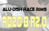 AD20-B-R2.0 - REAR - ALUMINIUM-DISH RACE RIM in 20mm