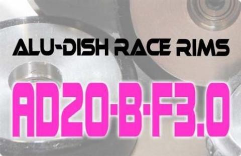 AD20-B-F3.0 / AD20-B-F3.0 - FRONT - ALUMINIUM-DISH RACE RIM in 20mm