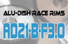 AD21-B-F3.0 - FRONT - ALUMINIUM-DISH RACE RIM in 21mm