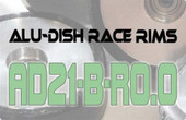AD21-B-R0.0 - BACK - ALUMINIUM-DISH RACE RIM in 21mm