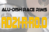 AD21-R-R0.0 - BACK - ALUMINIUM-DISH RACE RIM in 21mm