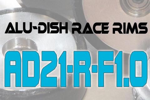AD21-R-F1.0 - FRONT - ALUMINIUM-DISH RACE RIM in 21mm