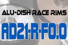 AD21-R-F0.0 - FRONT - ALUMINIUM-DISH RACE RIM in 21mm
