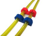 Wire Keeps 6mm - Kabel / Schlauchhalter - D 6mm / 10 Stk. / Foam / BLAU