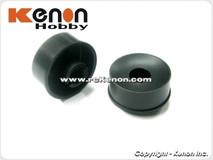 PN Felge 20mm HINTEN 0 / schwarz / Delrin / Dish - MR2077R0 001