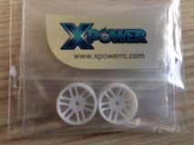 *XP / dNaNo / Racing Wheels, Five Star / 19RA / white / 2St. / Kunststoff 001