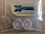 XP-D06-19RA-WHT / *XP / dNaNo / Racing Wheels, Five Star / 19RA / white / 2St. / Kunststoff