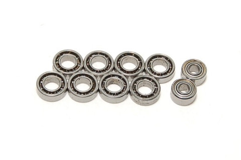 PN / Kugellager Set AWD / 10 Lager! komplett / Mini-Z Ball Bearing Set / Shield Hub Dry Ball Bearing Set (10pcs)