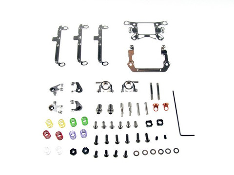PN / AWD / MA010 A-Arm Front Suspension Kit (Silver) / A-ARM Feder Front - komplettes Set! - silber
