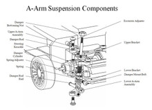 PN / AWD / MA010 A-Arm Front Suspension Kit (Silver) / A-ARM Feder Front - komplettes Set! - silber 002