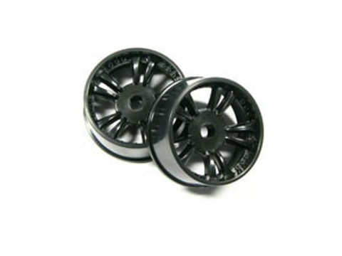 ATM / AWD Mini-Z / AWD T.S Rims WIDE (3*) - Black / 1Paar! / ABS Kunststoff