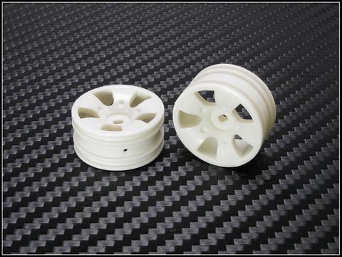 PN Racing Mini-Z Buggy Laser S5 Front Wheel White (2pcs) - nur die Felgen 2 Stück