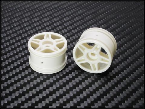 PN Racing Mini-Z Buggy Laser Star Rear Wheel White (2pcs) - nur die Felgen 2 Stück