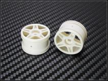PN Racing Mini-Z Buggy Laser Star Rear Wheel White (2pcs) - nur die Felgen 2 Stück 001