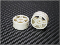 BL5001 / PN Racing Mini-Z Buggy Laser Star Front Wheel White (2pcs) - nur die Felgen 2 Stück 001