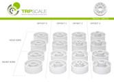 TRP / Felge VORNE +3 / 12  Design / Kunststoff / weiß