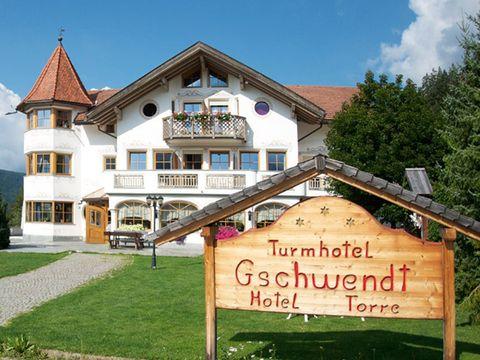 Südtirol - 3*Turmhotel Gschwendt - 4 Tage für 2 Personen inkl. Halbpension
