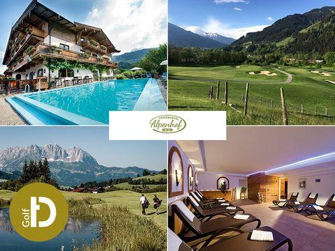 Kitzbühel - 3*Ferienhotel Alpenhof - 8 Tage für 1 Person inkl. Halbpension