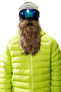 Beardski Goldsucher Skimaske mit Bart Braun – Bild 1