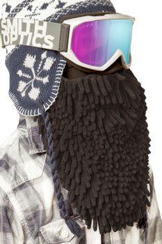 Beardski Midnight Rasta Skimaske mit Bart - Schwarz – Bild 2