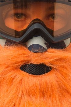 Beardski Hunter Skimaske mit Bart Orange – Bild 3