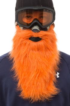 Beardski Hunter Skimaske mit Bart Orange – Bild 2