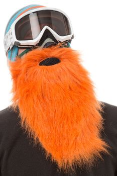 Beardski Hunter Skimaske mit Bart Orange – Bild 5
