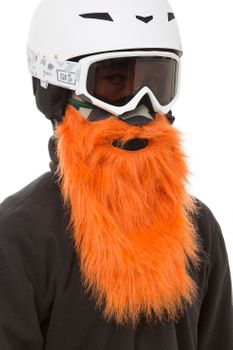 Beardski Hunter Skimaske mit Bart Orange – Bild 4