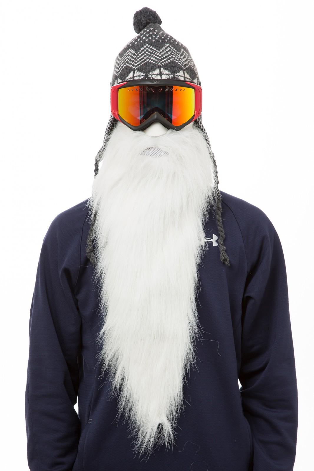 Beardski Merlin Langer Bart Skimaske Weiß