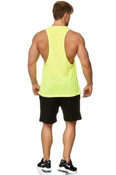 Muscle Shirt Herren Tank Top Neon Gelb – Bild 3