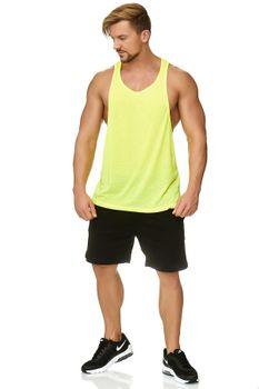 Muscle Shirt Herren Tank Top Neon Gelb – Bild 1