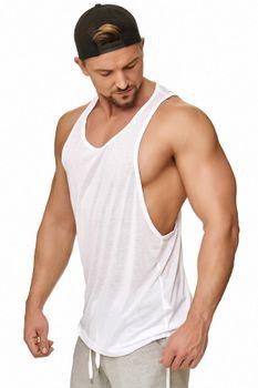 Muscle Shirt Herren Tank Top Weiß – Bild 1