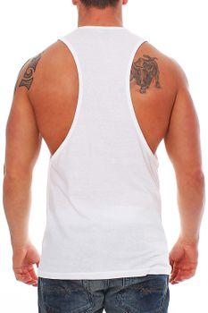 Muscle Shirt Herren Tank Top Weiß – Bild 3