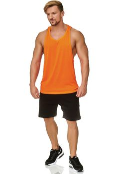 Muscle Shirt Herren Tank Top Neon Orange – Bild 1