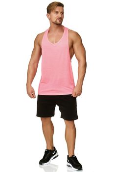 Muscle Shirt Herren Tank Top Pink – Bild 1