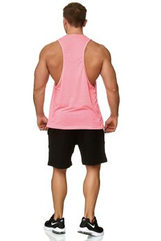 Muscle Shirt Herren Tank Top Pink – Bild 3