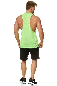 Muscle Shirt Herren Tank Top Neon Grün – Bild 3