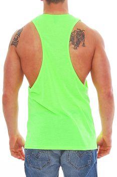 Muscle Shirt Herren Tank Top Neon Grün – Bild 2