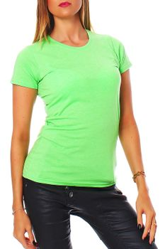 Damen T-Shirt Rundhals Meliert Comfort Bügelfrei XS-XL  – Bild 7
