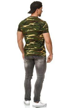 Herren Camouflage T-Shirt Sunset – Bild 2