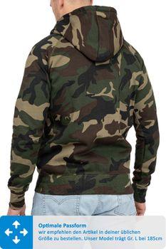 Herren Sweatjacke Camouflage Dallas – Bild 3