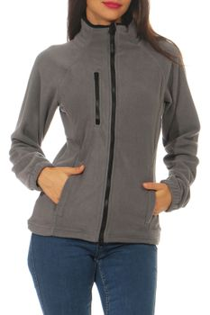 Damen Fleecejacke ohne Kapuze Norway – Bild 9