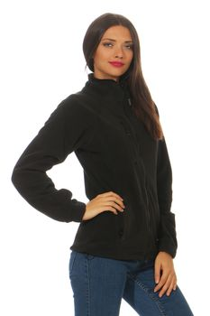 Damen Fleecejacke ohne Kapuze Norway – Bild 2